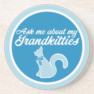Fragen Sie mich über mein Grandkitties Getränkeuntersetzer