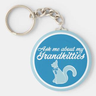 Fragen Sie mich über mein Grandkitties Schlüsselanhänger