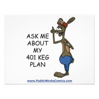 Fragen Sie mich über meinen 401 Fass-Plan Personalisierte Ankündigung