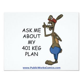 Fragen Sie mich über meinen 401 Fass-Plan 10,8 X 14 Cm Einladungskarte