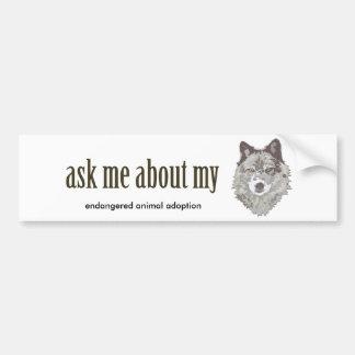 Fragen Sie mich über meinen WOLF… Autoaufkleber