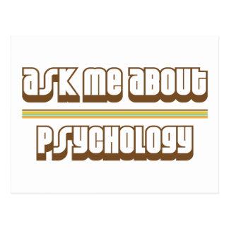 Fragen Sie mich über Psychologie Postkarte