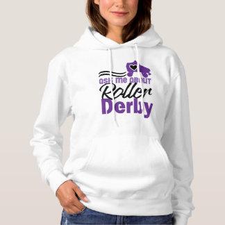 Fragen Sie mich über Rolle Derby, Rollen-Skaten Hoodie