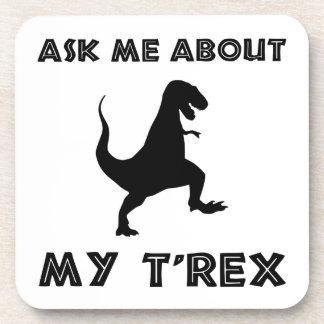 Fragen Sie mich über T lustigen Rex Untersetzer