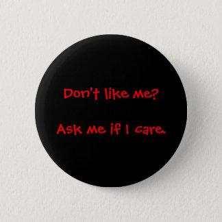Fragen Sie mich, wenn ich Knopf mich interessiere Runder Button 5,7 Cm