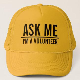 Fragen Sie mir | Gelb-Freiwilligen Truckerkappe