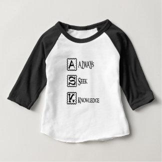 Fragen Sie, suchen Sie immer Wissen Baby T-shirt