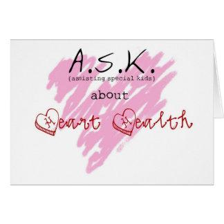 Fragen Sie über Herz-Gesundheit Notecards - 2 Karte