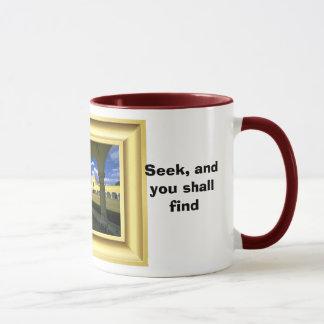 Fragen Sie und Sie empfangen Tasse