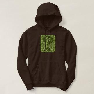 Fragezeichen-Entwurf im Grün Hoodie