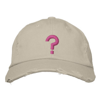 ? Fragezeichen-gesticktes Symbol auf Hut Bestickte Baseballkappe
