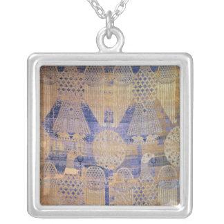 Fragment des 'Leichentuchs von St. Germain Versilberte Kette