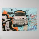 Fragment von Berliner Mauer Poster