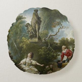 Fragonard Fortschritt der Liebe die Verabredung Rundes Kissen