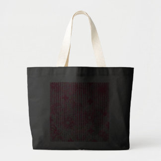 fragtual Streifen des Garten-Blumensommer-Rosas Einkaufstaschen