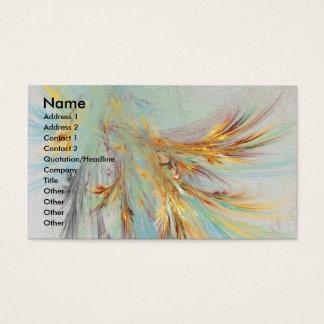 Fraktal-abstrakte Geschäfts-Karte Visitenkarte