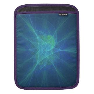 Fraktal azul iPad sleeve
