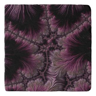 Fraktal-Bild in den Farben der Aubergine Töpfeuntersetzer