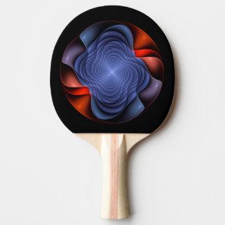 Fraktal-Blume auf einem dunklen Hintergrund Tischtennis Schläger
