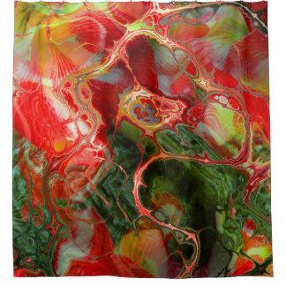 Fraktal-Blume Fantasie Duschvorhang
