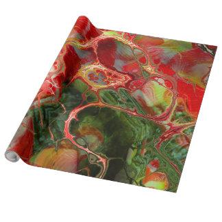 Fraktal-Blume Fantasie Geschenkpapier