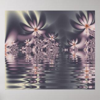 Fraktal-Blumen Clematis See Poster