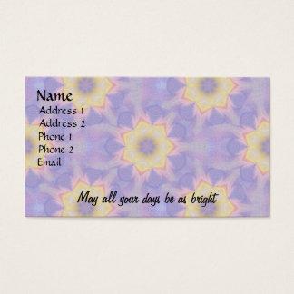 Fraktal-Blumen Visitenkarte
