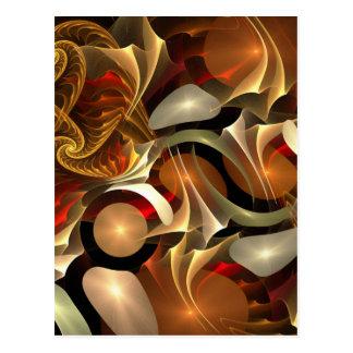 Fraktal-bunter Entwurf Postkarte