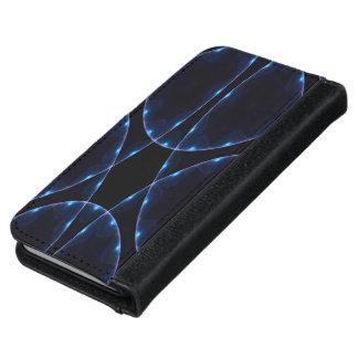 Fraktal des blauen Schwarzen Geldbeutel Hülle Für Das iPhone 6/6s