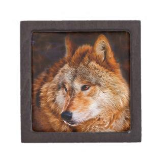 Fraktal des roten Wolfs Schachtel