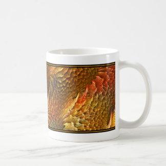 Fraktal Design (Prisma-Korallenriff) auf Kaffeetasse