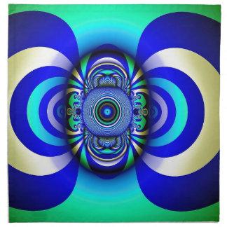 Fraktal-drittes Augen-Fantasie Digital Stoffserviette