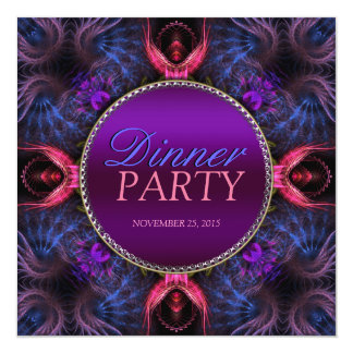 Fraktal-Engels-Abendessen-Partyspecial-Einladung Quadratische 13,3 Cm Einladungskarte