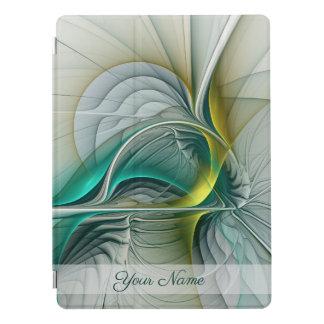 Fraktal-Evolution, goldener Türkis-abstrakter Name iPad Pro Cover