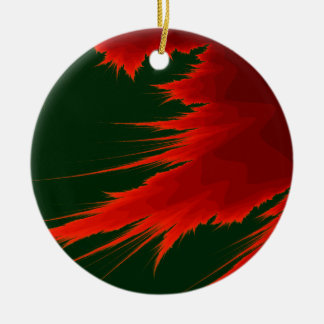 Fraktal-Flamme Keramik Ornament