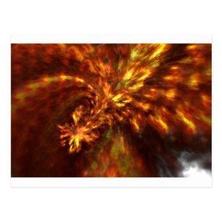 Fraktal-Flammen-Kunst Postkarte
