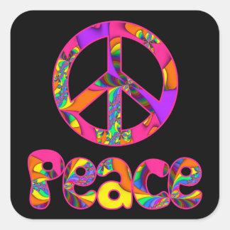 Fraktal-Frieden färben mich helle Aufkleber