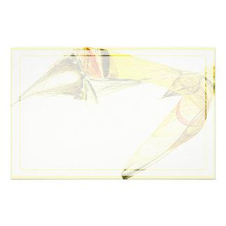 Fraktal - gelbe Fisch-Schwimmen Briefpapier