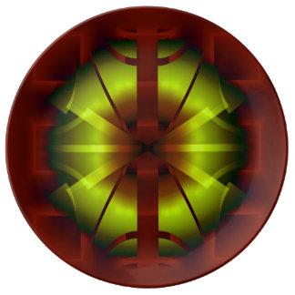 Fraktal-Geometrie Porzellanteller