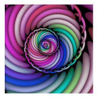 Fraktal-gewundenes Süßigkeits-Geschäft Acryldruck
