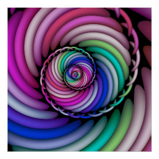 Fraktal-gewundenes Süßigkeits-Geschäft Poster