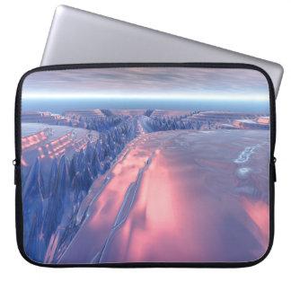 Fraktal-Gletscher-Landschaft Laptopschutzhülle