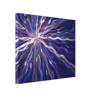 Fraktal-helle Grafik Leinwanddruck