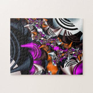 Fraktal-Herbst-Farben Puzzle