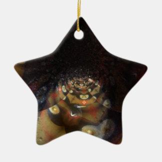 Fraktal Ihre kundenspezifische Stern-Verzierung Keramik Ornament