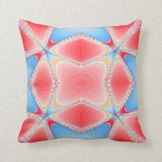 Fraktal-Kaleidoskop in rotem u. blauem #2 Kissen