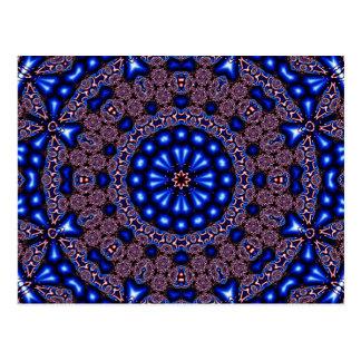 Fraktal-Kaleidoskop-Kunst 670 Postkarte