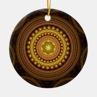 Fraktal-Kreise Keramik Ornament