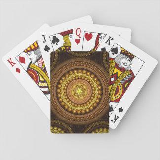 Fraktal-Kreise Spielkarten