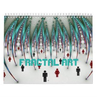 Fraktal-Kunst Abreißkalender